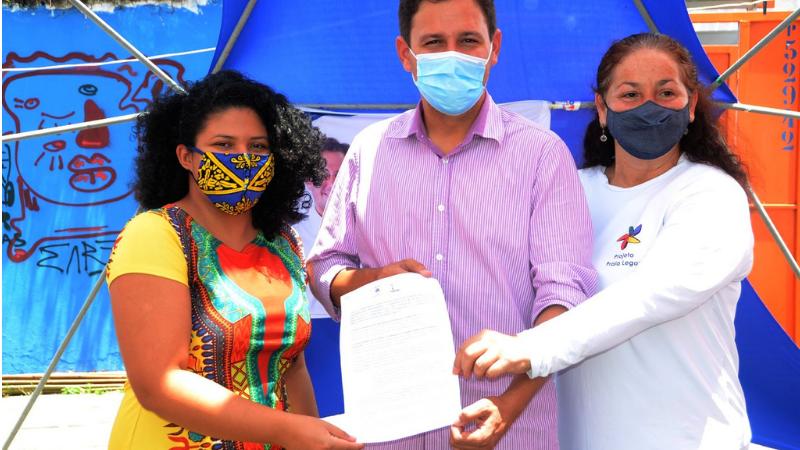 O candidato do PDT, foi o primeiro dos prefeituráveis de Olinda a assinar uma Carta de Compromisso com a juventude