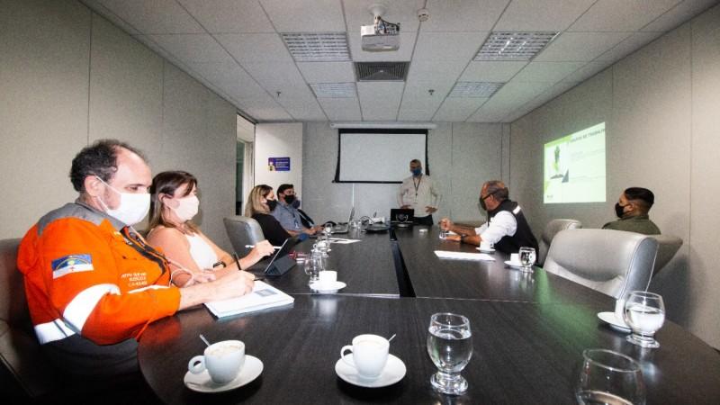 A reunião teve como objetivo fortalecer a parceria entre Suape e os órgão de segurança responsáveis pelo município