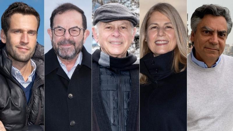 Pedro Andrade, Caio Blinder, Lucas Mendes, Angélica Vieira e Diogo Mainardi, integrantes do Manhattan Connection