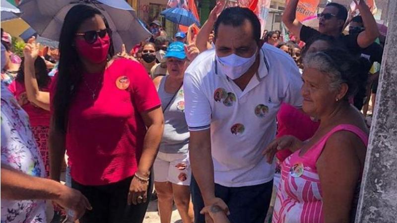 O candidato a prefeito de Olinda pelo PSL teve uma excelente receptividade da população de Peixinhos