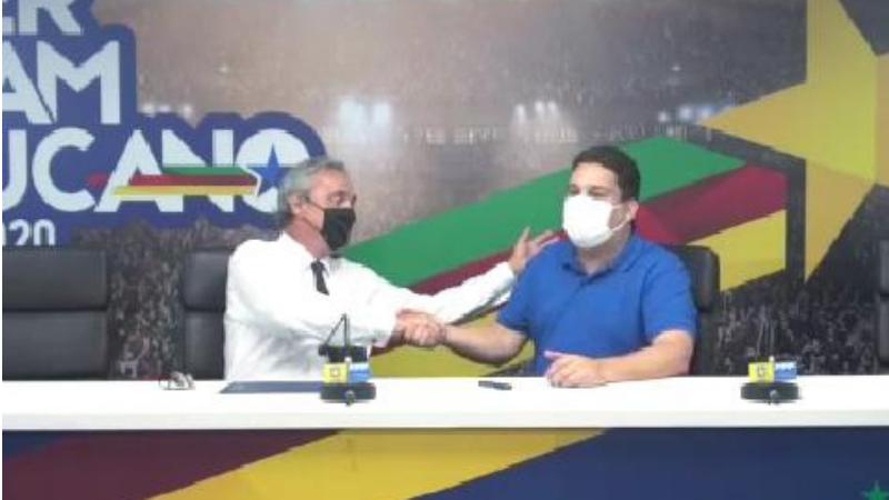 O candidato a prefeito da coligação Camaragibe Um Novo Tempo, recebeu o apoio do presidente da Federação Pernambucana de Futebol, Evandro Carvalho.