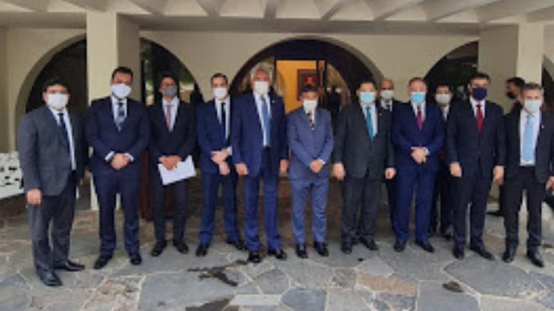 Paulo Câmara foi recebido pelo secretário especial da Fazenda, Waldery Rodrigues e pelo secretario do Tesouro Nacional, Bruno Funchal.