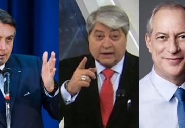 Datena critica Bolsonaro por ataques à eleição e diz que não será vice de Ciro