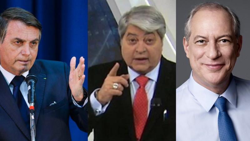 Datena abordou o tema para negar notícias de que pode ser vice de Ciro Gomes (PDT) ou de Jair Bolsonaro (sem partido)
