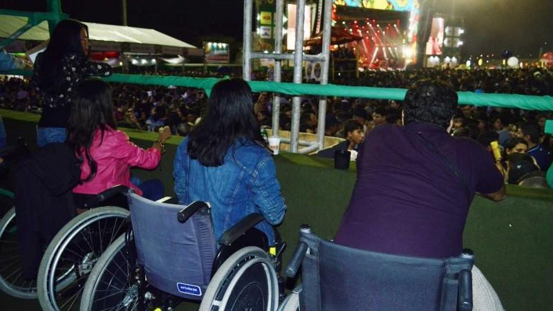 Espaço é destinado às pessoas com deficiência e idosos com dificuldade de locomoção, assim como os respectivos acompanhantes, de forma gratuita, durante os festejos no Pátio de Eventos Luiz Lua Gonzaga, que acontecem do dia 1º ao dia 29 de junho