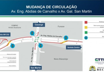 Trânsito na Abdias de Carvalho e Gal. San Martin sofre alterações