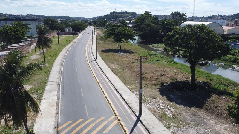 Com 30 metros de extensão, ponte cruzará o Rio Morno, na nova avenida marginal do Rio Beberibe, dentro das obras de requalificação da área