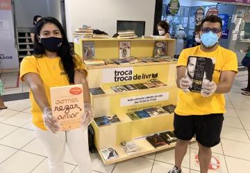 Feira de troca de livros movimenta o Shopping ETC neste sábado (2)