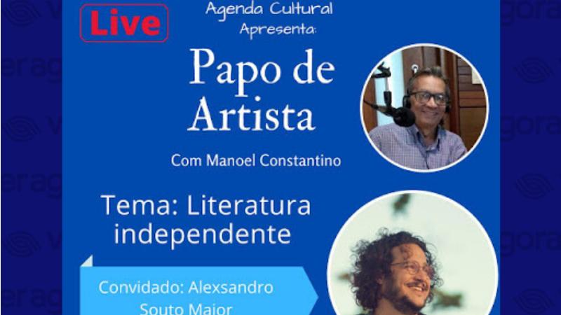 O convidado, Alexsandro Souto Maior, é escritor, professor e ator, acabou de lançar a nova obra literária Inglórios, seu segundo livro de contos, confeccionado de forma artesanal por meio de produção colaborativa do Cartase.