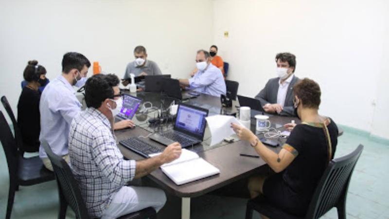 O secretário de CT&I, Lucas Ramos, participou de reunião do Conselho de Administração da EPC para debater novos projetos