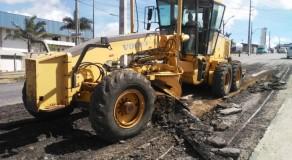 Operação Tapa-Buraco chega ao Distrito Industrial