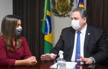 Deputado Eriberto Medeiros recebe secretária de Infraestrutura e trata de recuperação de rodovias