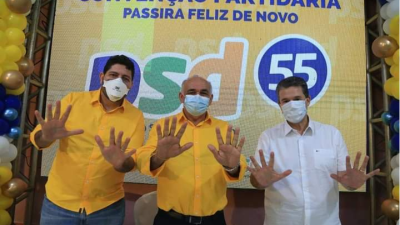 Além da apresentação do prefeito e vice-prefeito, foram homologadas as 48 pré-candidaturas à Câmara de Vereadores