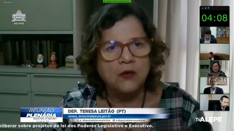 A deputada estadual do PT  lembrou ainda que, na última quarta-feira (31), foi aprovado, por iniciativa dos deputados federais Rejane Dias (PT-PI) e Danilo Cabral (PSB-PE), entre outros, o texto base de um projeto de lei que inclui algumas categoria