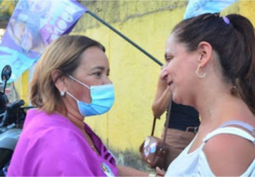 Camaragibe: Doutora Nadegi e Délio Júnior caminham em Alberto Maia