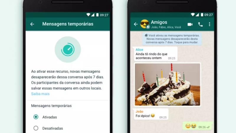 As mensagens autodestrutivas estavam em testes desde outubro de 2019, e chegam ainda este mês aos usuários brasileiros