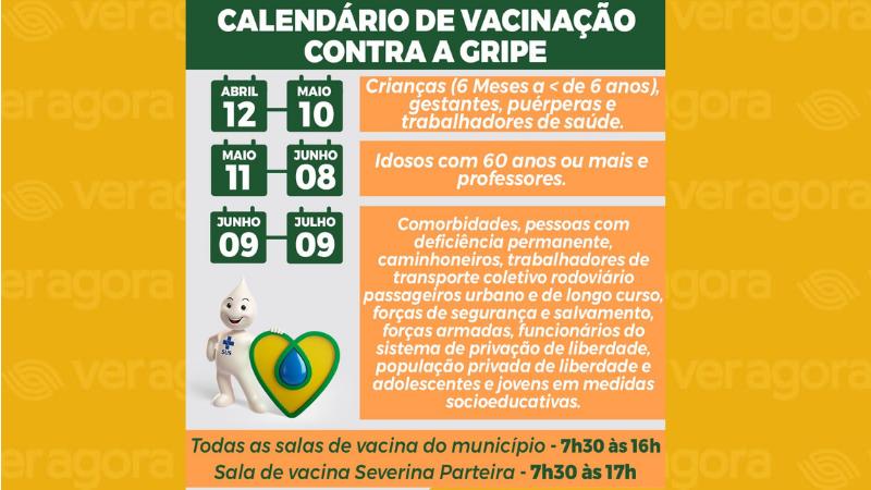 Na primeira etapa de vacinação serão vacinados os seguintes grupos: crianças de seis meses a menores de seis anos; gestantes em qualquer idade gestacional; puérperas (até 45 dias pós-parto) e trabalhadores de saúde.
