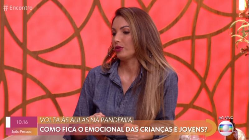 A apresentadora e jornalista Fátima Bernardes ficou sem voz após mudança no tempo