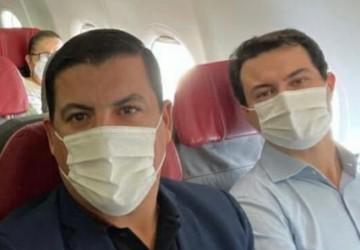 Noé Magalhães e deputado Clodoaldo Magalhães estão de volta em Brasília buscando investimentos para Água Preta