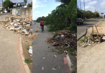 Zé Netto denuncia estado de abandono da ciclovia em Olinda