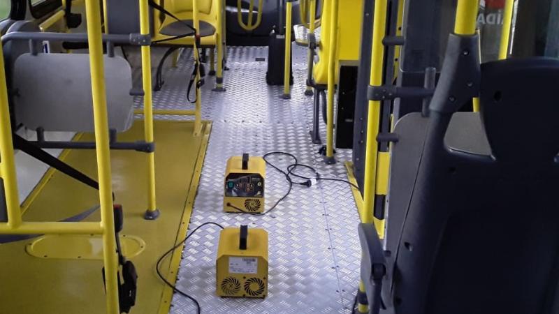 O Consórcio é pioneiro na aplicação de ozônio em ônibus no estado de Pernambuco