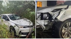 Cantor Batista Lima e a esposa sofrem acidente na BR-232, no Sertão