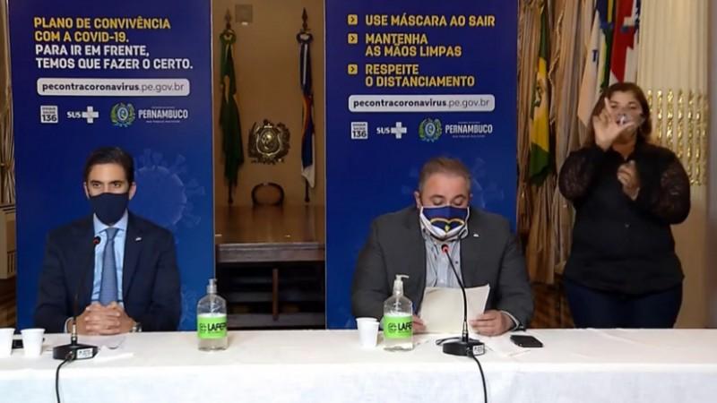 As afirmações foram feitas durante a coletiva do Governo de Pernambuco nessa quinta-feira (17)
