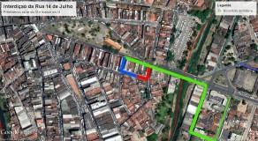 Rua 14 de julho será interditada a partir desta terça em Caruaru