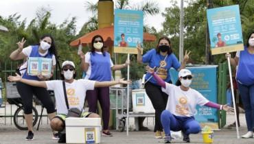Recife realiza ações da campanha Bora se Cuidar nos parques e praças