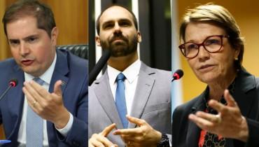 Eduardo Bolsonaro, Tereza Cristina e Bruno Bianco testam positivo para COVID-19