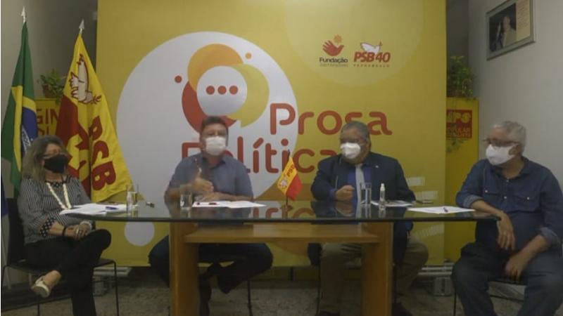 Cloves Benevides, secretário estadual de Políticas de Prevenção à Violência e às Drogas foi o palestrante  do evento O evento que teve a condução de Sileno Guedes e a mediação de Dora Pires e Evaldo Costa