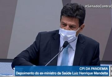 Mandetta diz na CPI da Covid-19, que Bolsonaro queria que Anvisa mudasse bula da cloroquina