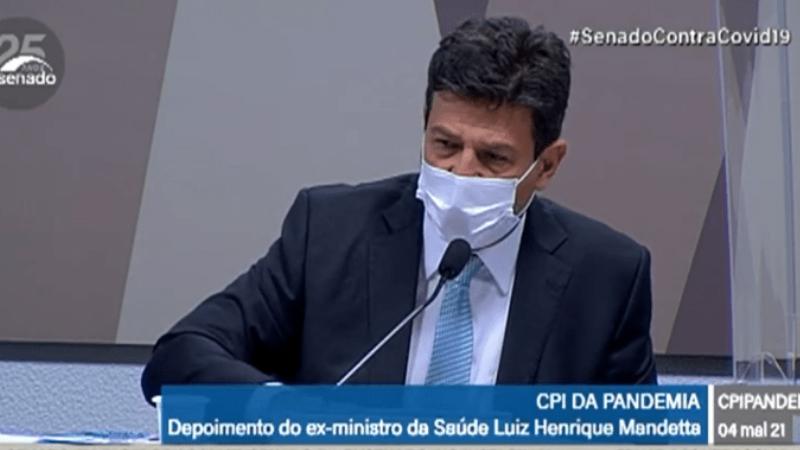 Luiz Henrique Mandetta, foi Ministro da Saúde até abril de 2020.Seu sucessor na pasta, Nelson Teich, também deve ser ouvido ainda hoje (4).