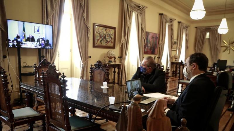 Em reunião com o governador Paulo Câmara, ministro da Saúde informou o cronograma de entrega dos imunizantes