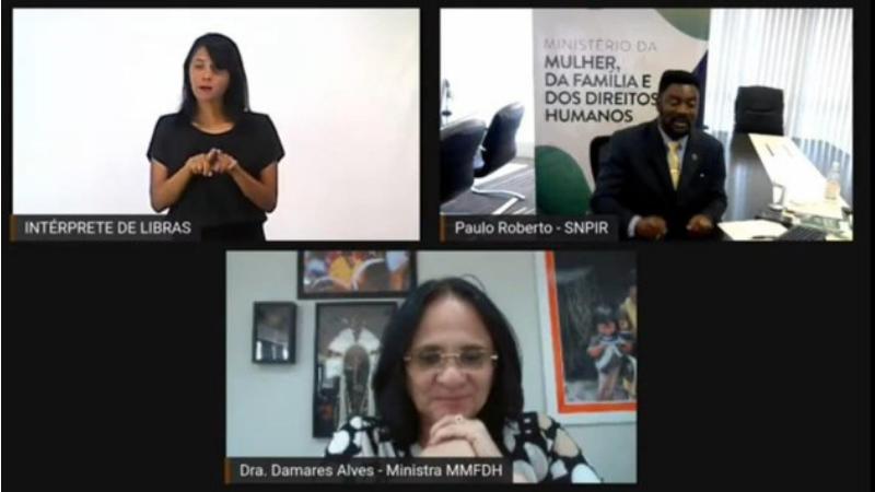 Dados foram apresentados no primeiro dia de webinário em comemoração ao Dia Nacional do Cigano. Evento contou com a participação da ministra Damares Alves