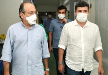 Ao lado de Lula da Fonte, Eduardo da Fonte faz visita ao Hospital de Câncer