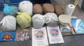 Polícia apreende 7 kg de maconha em casa de ex-policial militar, em Gravatá