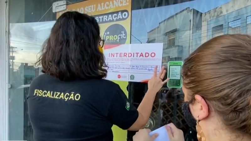 A ação do CREF12/PE contou com o apoio da Vigilância Sanitária de Olinda e da Polícia Civil.
