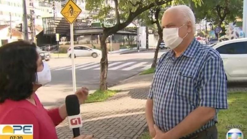 Reginaldo Valença, presidente da associação, deu uma entrevista à TV Globo sobre a volta às aulas