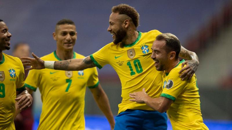 Seleção faz 3 a 0 com gols de Marquinhos, Neymar e Gabriel Barbosa