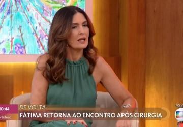 Fátima Bernardes retorna ao Encontro após tratar câncer