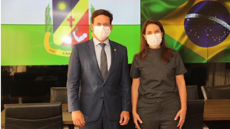 No Ministério da Cidadania, a Prefeita se reuniu com o ministro João Roma, onde tratou sobre investimentos na área de desenvolvimento social.