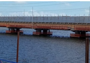 DER acelera obra de recuperação da ponte de Itamaracá
