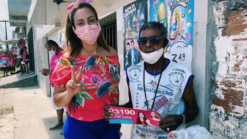 A candidata, tida como uma das favoritas na disputa à câmara de vereadores, foi alvo de ataques caluniosos