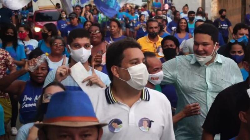 O anuncio foi feito em caminhada do candidato nos bairros de Alberto Maia e Santa Terezinha