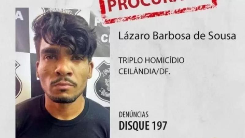 Acusado de matar 4 da mesma família em Ceilândia (DF), homem de 32 anos estava fugindo em zonas rurais há quase três semanas