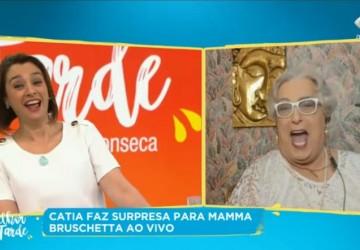 Mamma Bruschetta é contratada ao vivo por Cátia Fonseca na Band