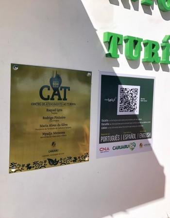 Pontos turísticos de Caruaru com autodescrição em três idiomas por meio de QR code