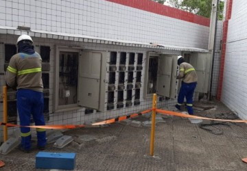 Moradores de condomínio em Olinda flagrados pela Celpe furtando energia