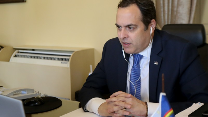 Governador participou, por videoconferência, do Encontro Estratégico Inovações Sustentáveis, que tratou de temas como economia verde, energias renováveis e redução de desigualdades